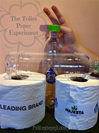 The toilet paper experiment with majesta ez flush