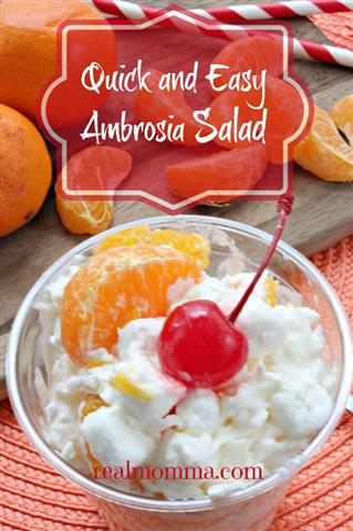 Quick and Easy Ambrosia Salad Recipe