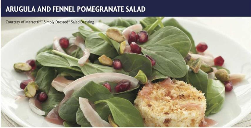 Arugula and Fennel Pomegranate Salad