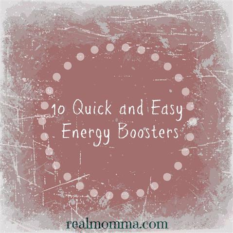 10 Quick and Easy Energy Boosters