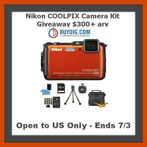 Nikon COOLPIX AW120 Camera Kit Giveaway!