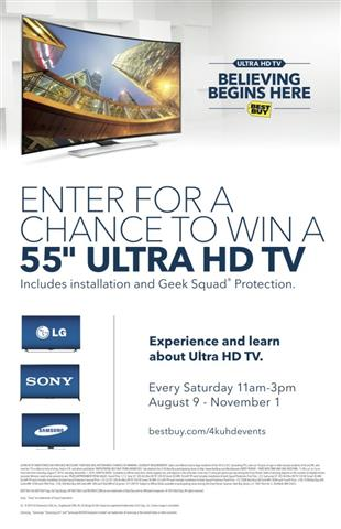 UHD Best Buy In Store