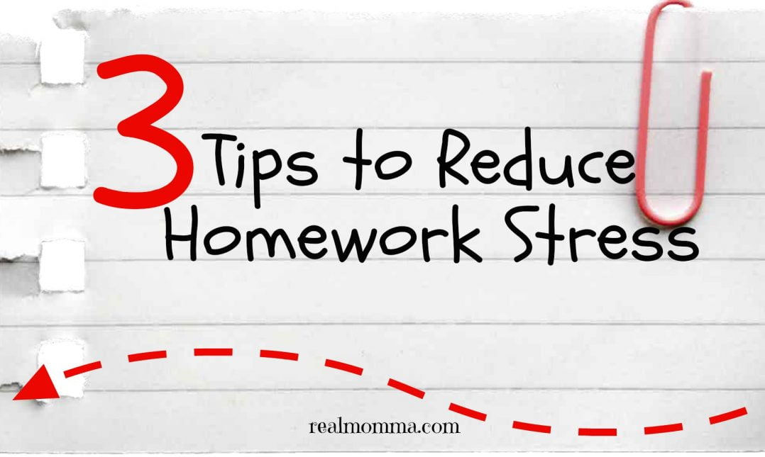 3 Tips To Reduce Homework Stress