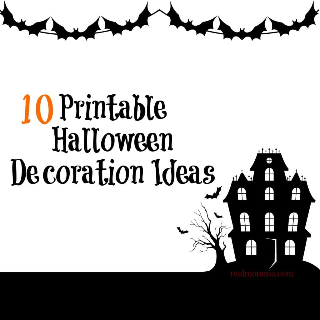 photograph relating to Halloween Decorations Printable known as 10 Printable Halloween Decoration Tips True Momma
