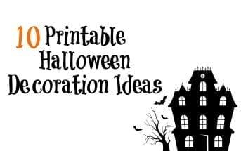 10 Printable Halloween Decoration Ideas