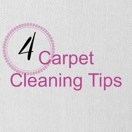 4 carpet cleaning tips