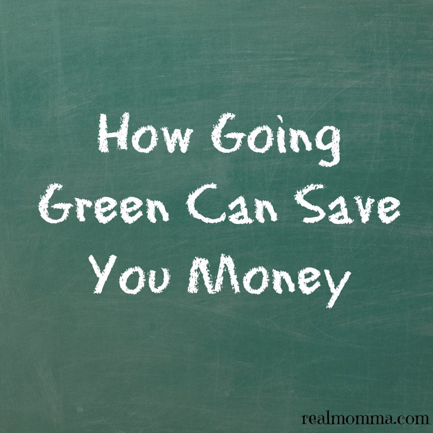 How Going Green Can Save You Money