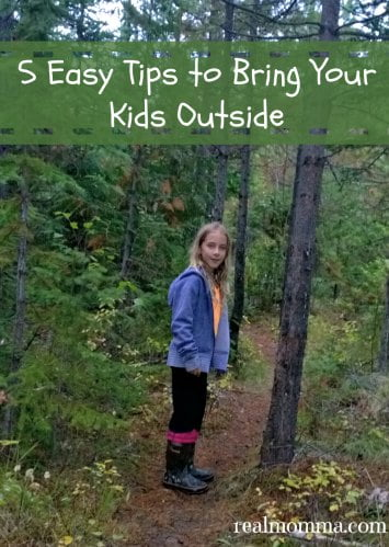 five easy tips to bring your kids outside