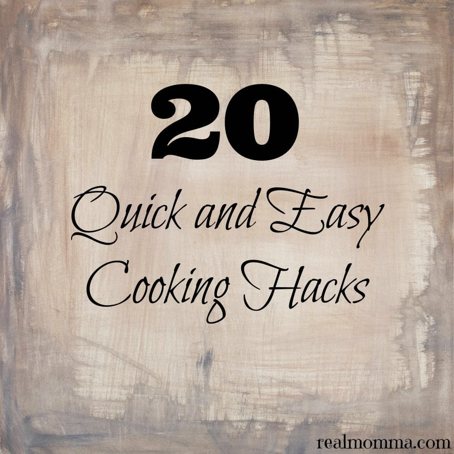 20 quick and easy cooking hacks