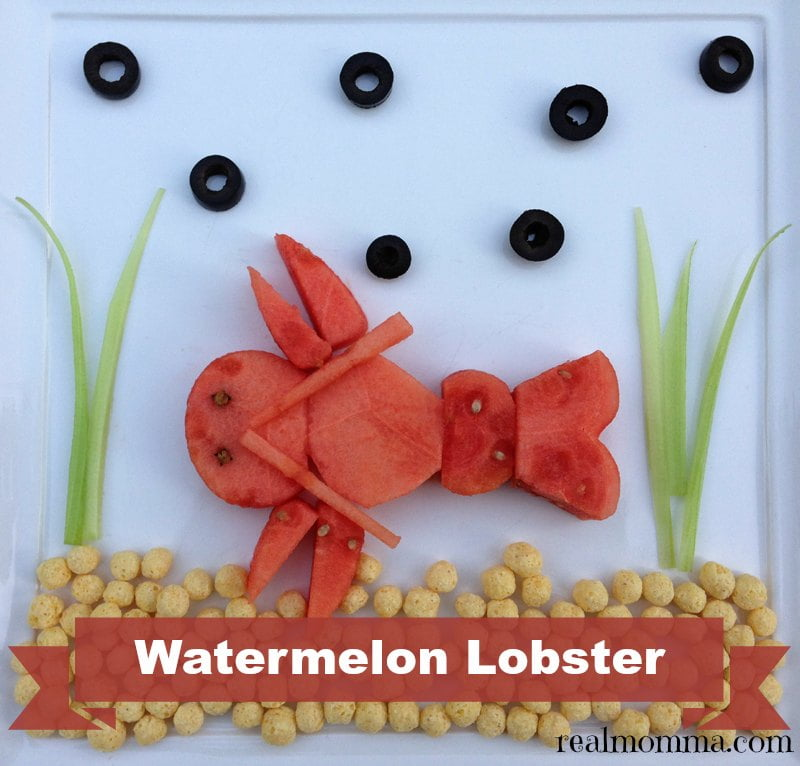 Watermelon Lobster Food Art for kids
