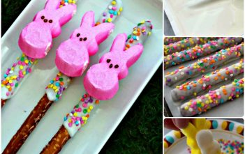 Peeps Pretzel Rods How To