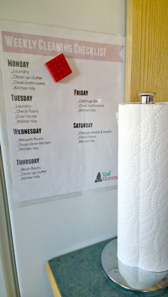 Royale Tiger Towel and Weekly Cleaning Checklist