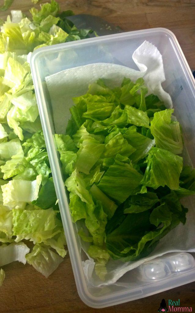 Storing Romaine Lettuce