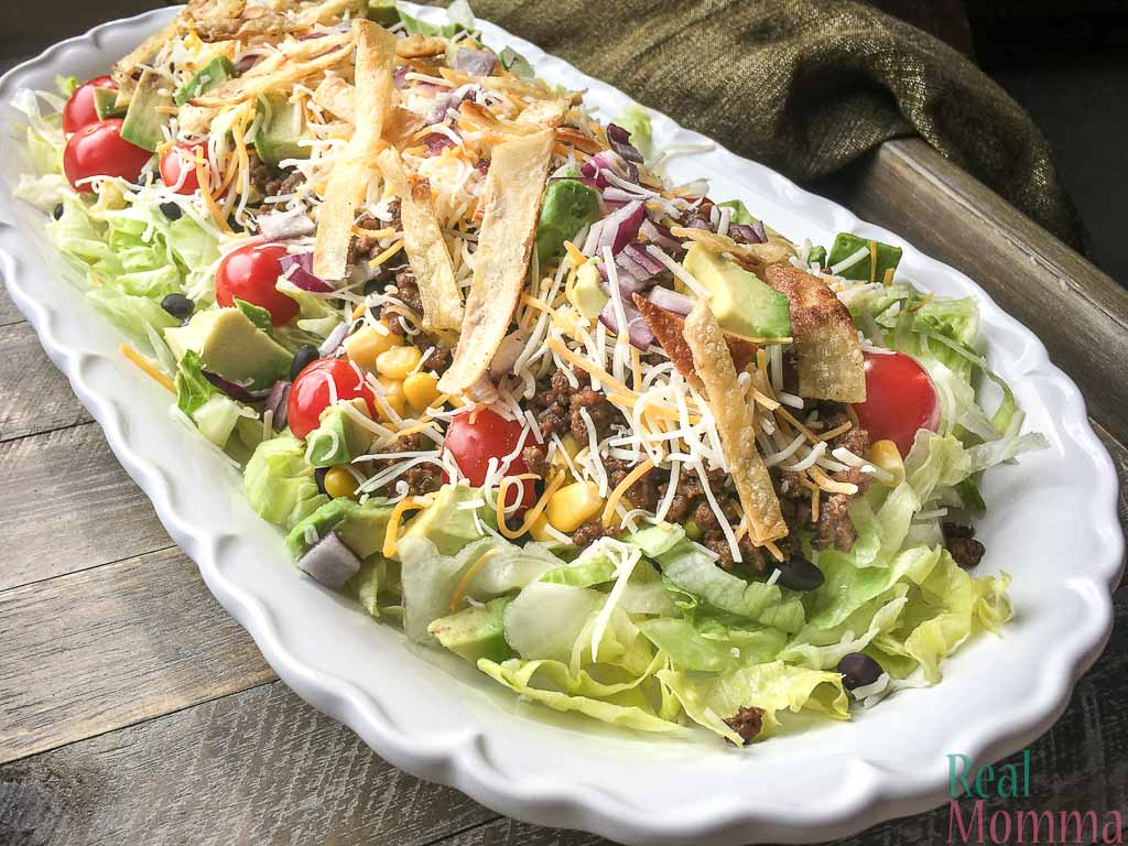 Healthy quick and easy taco salad