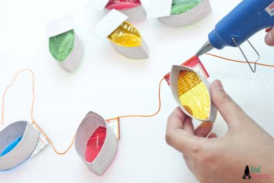 DIY Christmas Lights Garland step 12