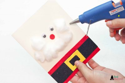 DIY 3D Santa Claus Card step 12