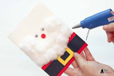 DIY 3D Santa Claus Card step 13
