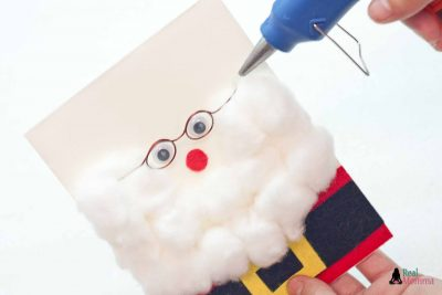 DIY 3D Santa Claus Card step 15