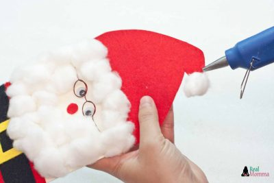 DIY 3D Santa Claus Card step 19