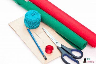 DIY Christmas Stocking for Gift Giving supplies