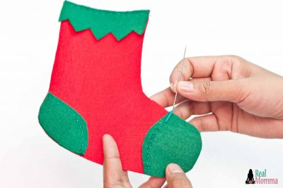 DIY Christmas Stocking for Gift Giving step 12