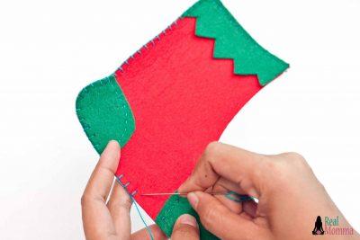 DIY Christmas Stocking for Gift Giving step 14