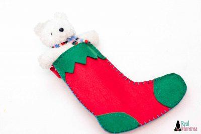 DIY Christmas Stocking for Gift Giving step 18