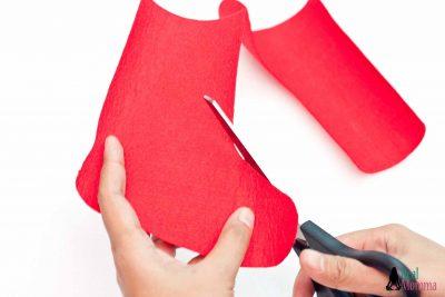 DIY Christmas Stocking for Gift Giving step 4