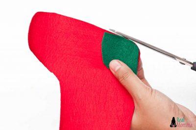DIY Christmas Stocking for Gift Giving step 10