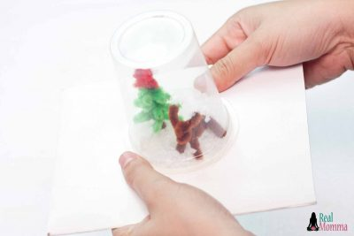 DIY Upcycled Snow Globe step 11
