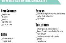 gym bag essential checklist