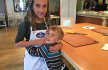 sibling love with Maple Lodge Farms
