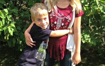 Cheyenne and dustin back to school