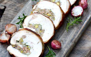 Sausage and Pistachio Stuffed Turkey Breast Roast Recipe