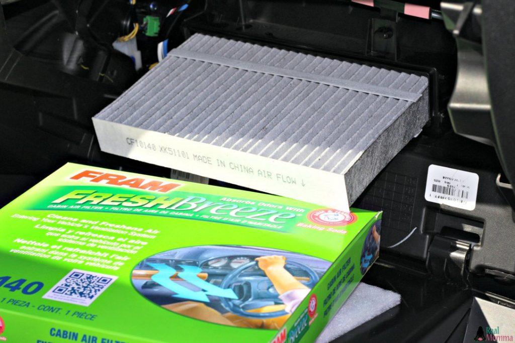 Install FRAM Fresh Breeze cabin air filter