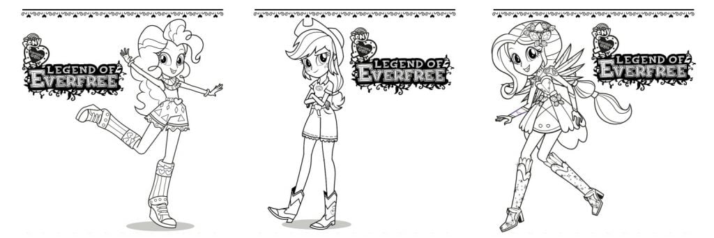 Legend of Everfree Coloring Pages