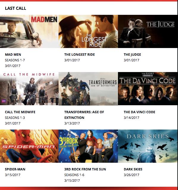 March Netflix Canada Last Call