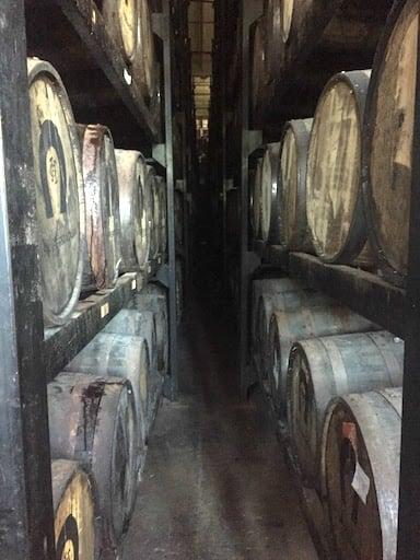 Tequila Herradura oak barrels