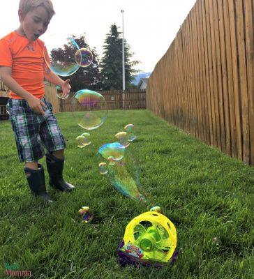 Dustin loves the Gazillion Giant Bubble Mill