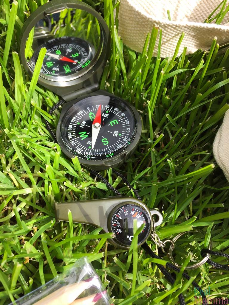 Great Adventure Kit Compass and Whistle