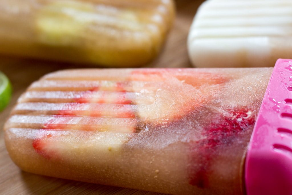 Strawberry Iced Tea Popsicle