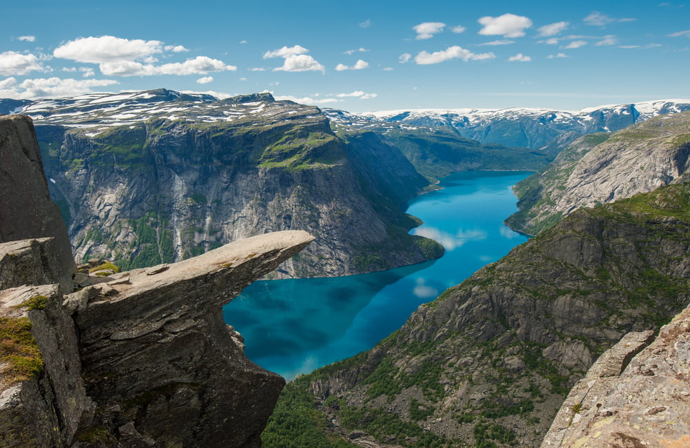 Trolltunga Trolls tongue rock Norway