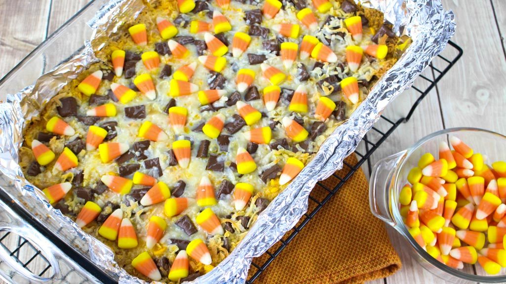 Magic Candy Corn Bar Directions
