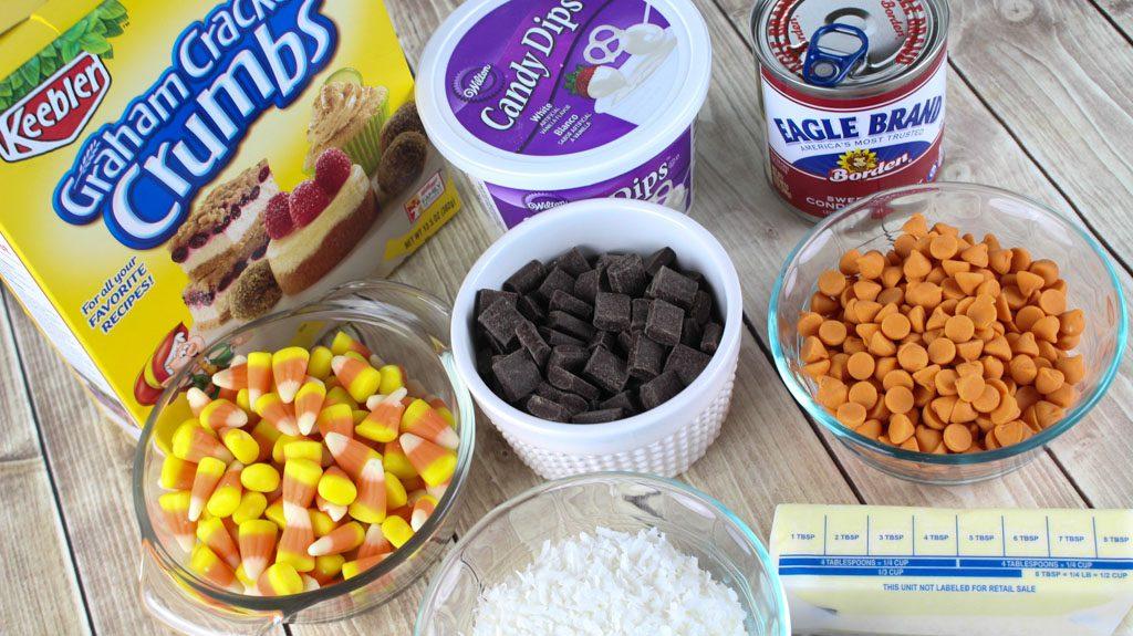 Magic Candy Corn Bar Ingredients