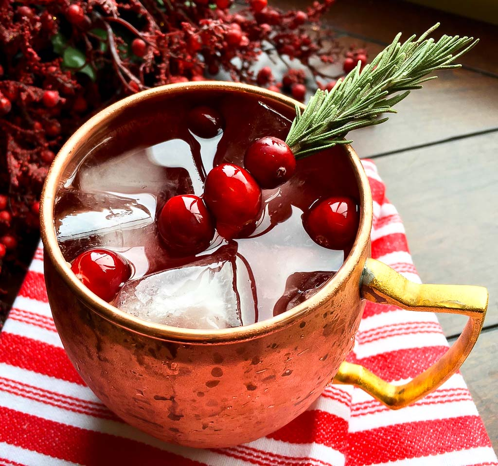 A Holiday Cranberry Moscow Mule