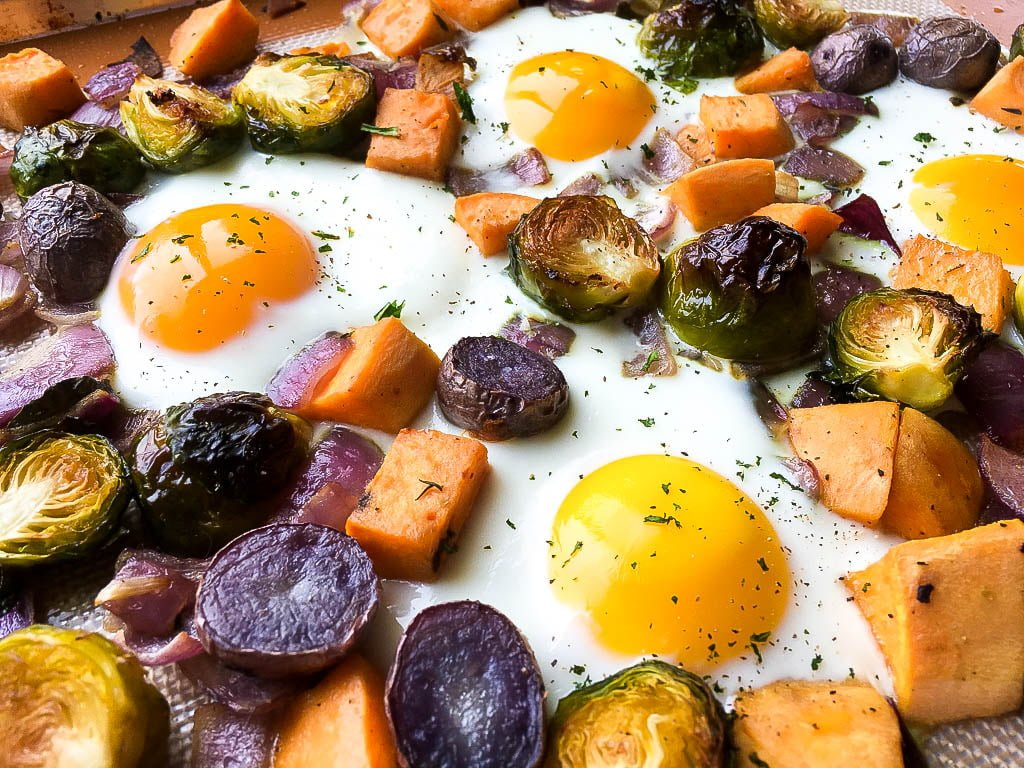 Quick and easy sweet potato breakfast hash
