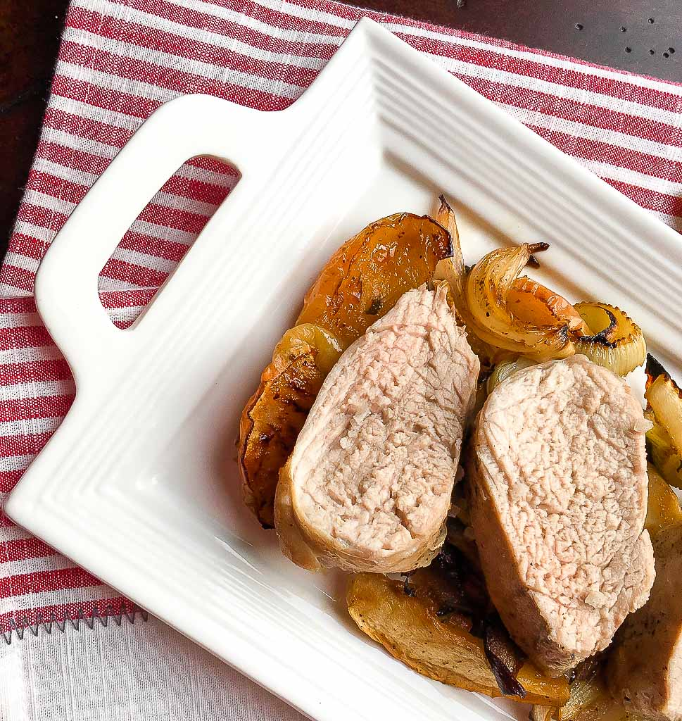 Apple and Fennel Roasted Pork Tenderloin