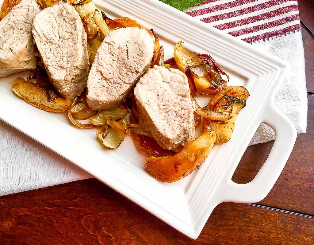 Sheet Pan Apple and Fennel Roasted Pork Tenderloin