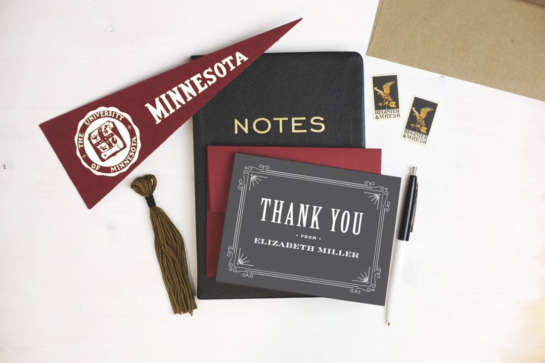 Create College Graduation Thank you Cards with Basic Invite