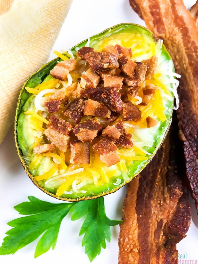 Loaded Keto Avocado Baked Eggs Recipe